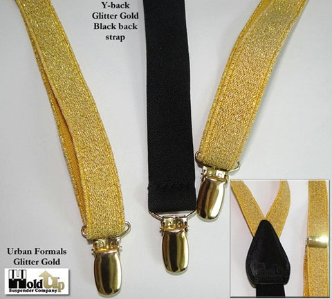 "Thin 3/4"" wide Urban Youth Series Glitter suspenders from Holdup Suspender Company"