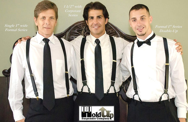 Black Holdup USA made Patented Suspenders