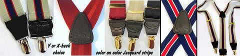 Striped Holdup USA made men's suspenders