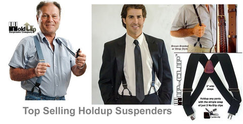 Holdup Suspenders are made in the USA and we offer over 490 styles for men and women and kids.