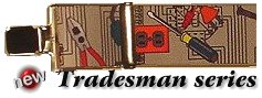Tradesman pattern Holdup Suspender Company USA made wide work suspenders with jumbo no-slip clips