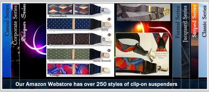 Welcome to the Holdup Suspender Company Amazon Web shop where Prime members get free 2nd day Freight on over 400 styles of USA made Holdup suspenders