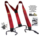 Holdup Brand Corporate Series Dual Clip Double-Ups in Satin Finish Bordeaux Burgundy with No-slip Clips