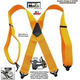 "Hold-Ups Hunter Orange 2"" Wide Work Suspenders with Composite Plastic Gripper Clasp"