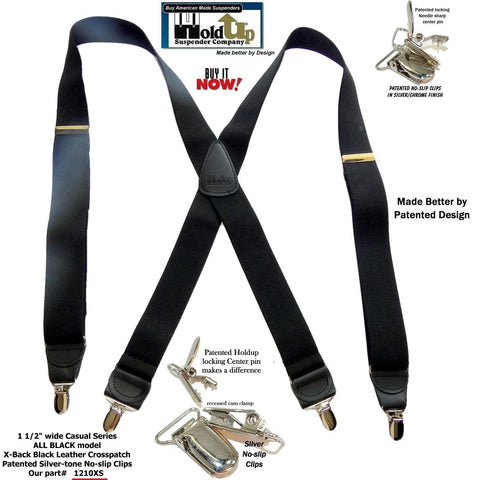 Trucker Style Suspenders with No-slip Gripper Clasp Hold Up Suspenders,X-type Fashion Back Suspenders Pant Braces