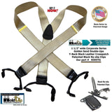 HoldUp Suspender Brand Double-up style Y-back Suspenders in Satin Finish Golden Sand Color