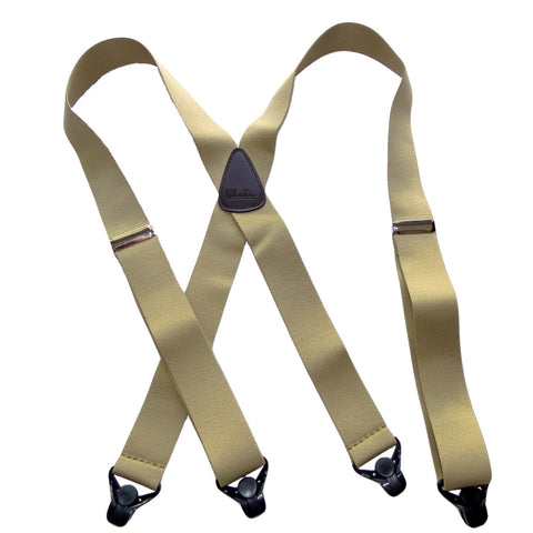 HoldUp Brand Specialty Series Tan Ski-Up Suspenders