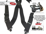Hip-Clip style No-Buzz Airport Friendly Black HoldUp X-Back suspender