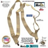 HoldUps Brands Under-Up Series Light Beige Suspender With Patented No-slip Needle Point  Clips