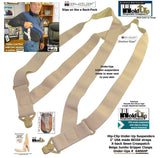 HoldUps Brand Under-Up Series Tan Invisible Undergarment Suspenders