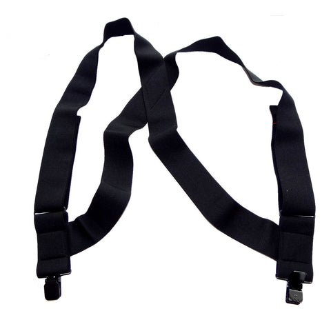 "HoldUp Brand No-Slip Clip Black 2"" Wide Under-Ups suspenders"