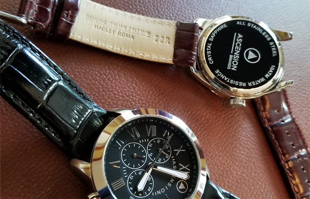 Ascension upgrades to genuine Italian leather bands from Hadley-Roma