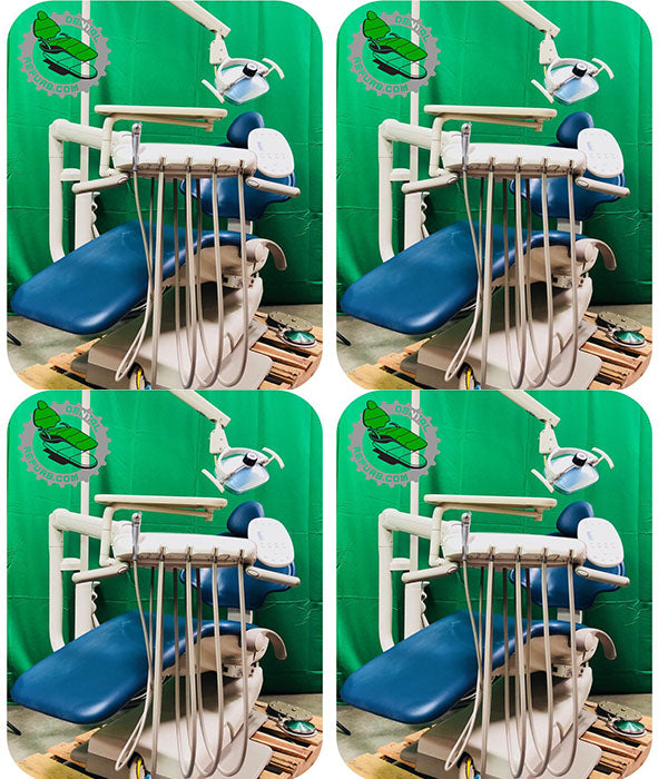 4 OP Adec 511 Dental Chair w/ Delivery System Assistant Package & Light (Freight Shipping)