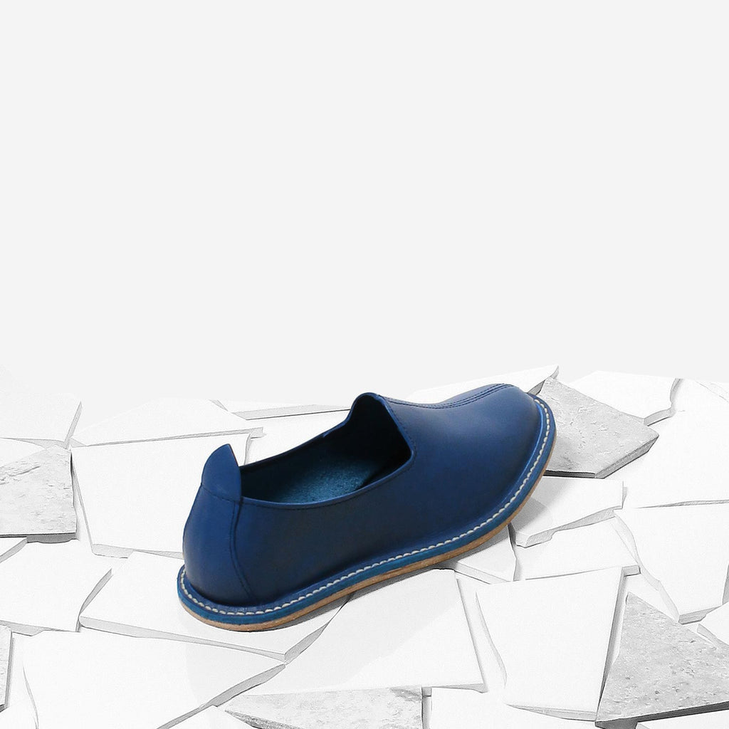 Pigment Blue Classic Moccasin