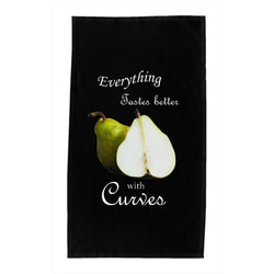 Everything Tastes Better With Curves Dishtowels