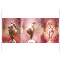 Three Goddesses Magnets - White