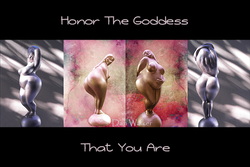 Honor The Goddess That You Are  - Black Posters & Prints