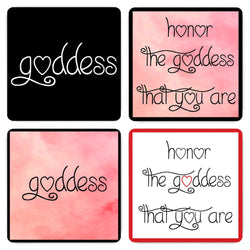 Goddess and Honor The Goddess Magnets - Set of Four