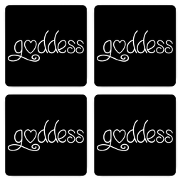Goddess Magnets - Black - Set of Four