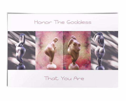 Honor The Goddess That You Are Poster-White With Quote 24