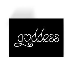 Goddess - Black Greeting Card