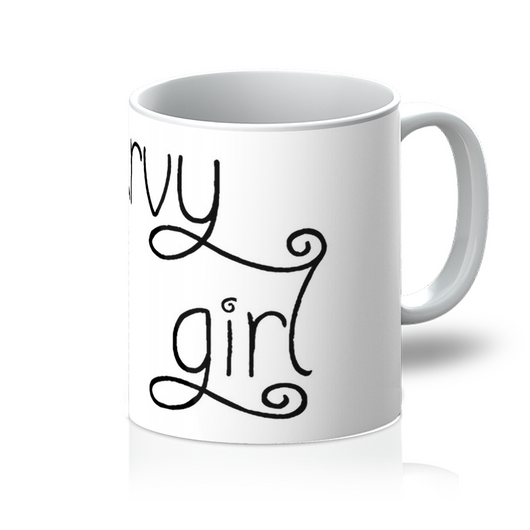 Curvy Girl 11 ounce Mug - Black And White