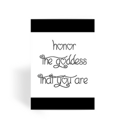 Honor The Goddess That You Are Greeting Card
