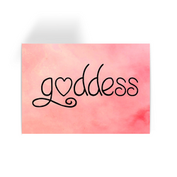 Goddess - Pink Greeting Card