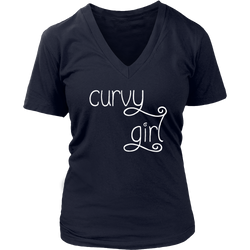 Curvy Girl Women's V-neck Tee Shirt, Tank and Tee 10 Colors