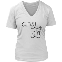 Curvy Girl Women's V-neck Tees, Tanks, and Tee Shirts