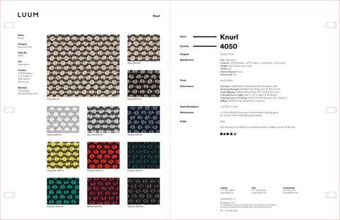 KNURL SAMPLE CARD