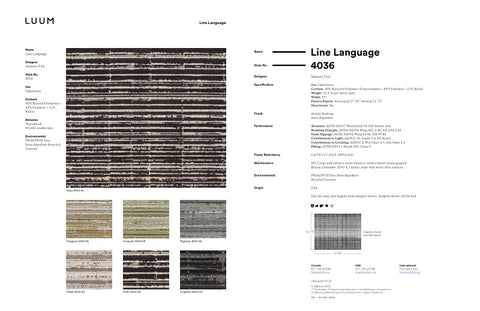 LINE LANGUAGE SAMPLE CARD