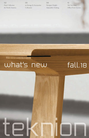 TEKNION WHAT'S NEW FALL 2018