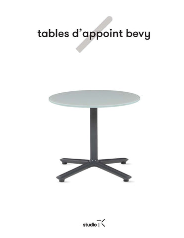 BEVY OCCASIONAL TABLES SELL SHEET (FR)