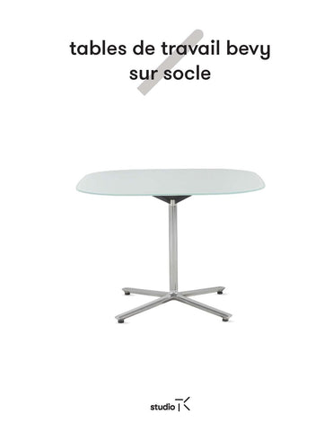 BEVY PEDESTAL WORK TABLES SELL SHEET  (FR)