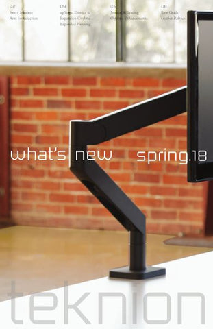 TEKNION WHAT'S NEW SPRING 2018