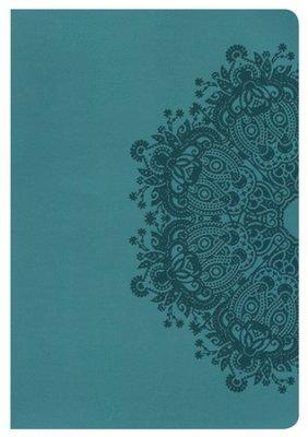 NKJV Giant Print Ref Bible Teal LeatherTouch