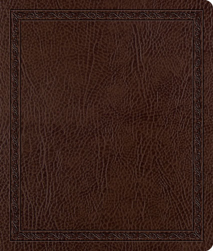 ESV Journaling Bible  Bonded Leather, Mocha, Threshold Design
