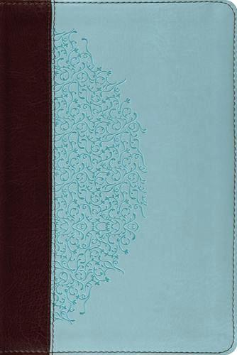 ESV Study Bible, Personal Size  TruTone®, Chocolate/Blue, Ivy Design