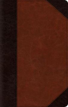 ESV Classic Reference Bible  TruTone®, Brown/Cordovan, Portfolio Design