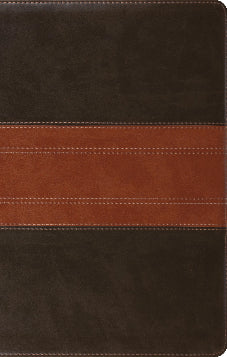 ESV Large Print Thinline Reference Bible, Trutone, Forest/Tan Trail Design