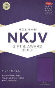 NKJV Gift & Award Bible Purple
