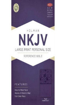 NKJV Purple Large Print Personal Size Reference Bible