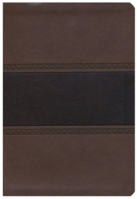 NKJV Large Print UltraThin Reference Bible, Brown and Chocolate