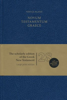 Novum Testamentum Graece, Nestle-Aland 28th Edition- Large Print, hardcover