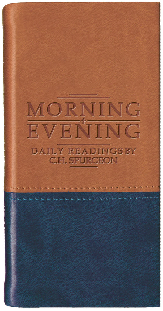 Tan/Navy Morning & Evening: Daily Readings by C. H. Spurgeon