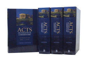 Acts: An Exegetical Commentary, 4 vols.