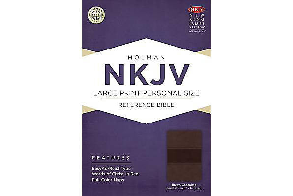 NKJV Brown/Chocolate Leather Touch Large Print Personal Size