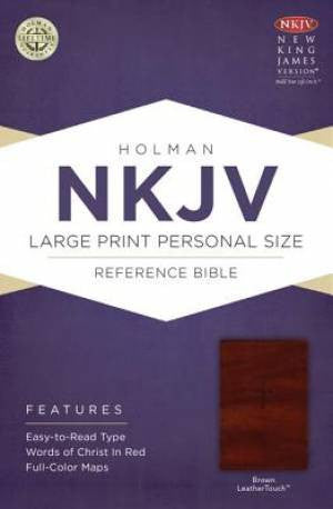 NKJV Brown Imitation Leather Large Print Personal Size