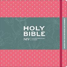 NIV Pink Polka Dot Journalling Bible with Unlined Margins (New International Version)
